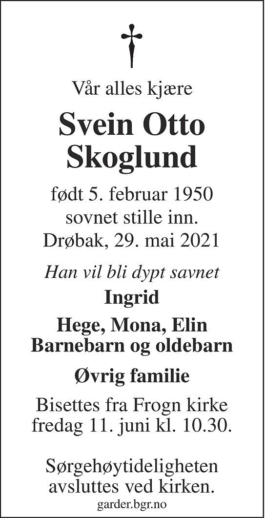 Svein Otto Skoglund Dødsannonse