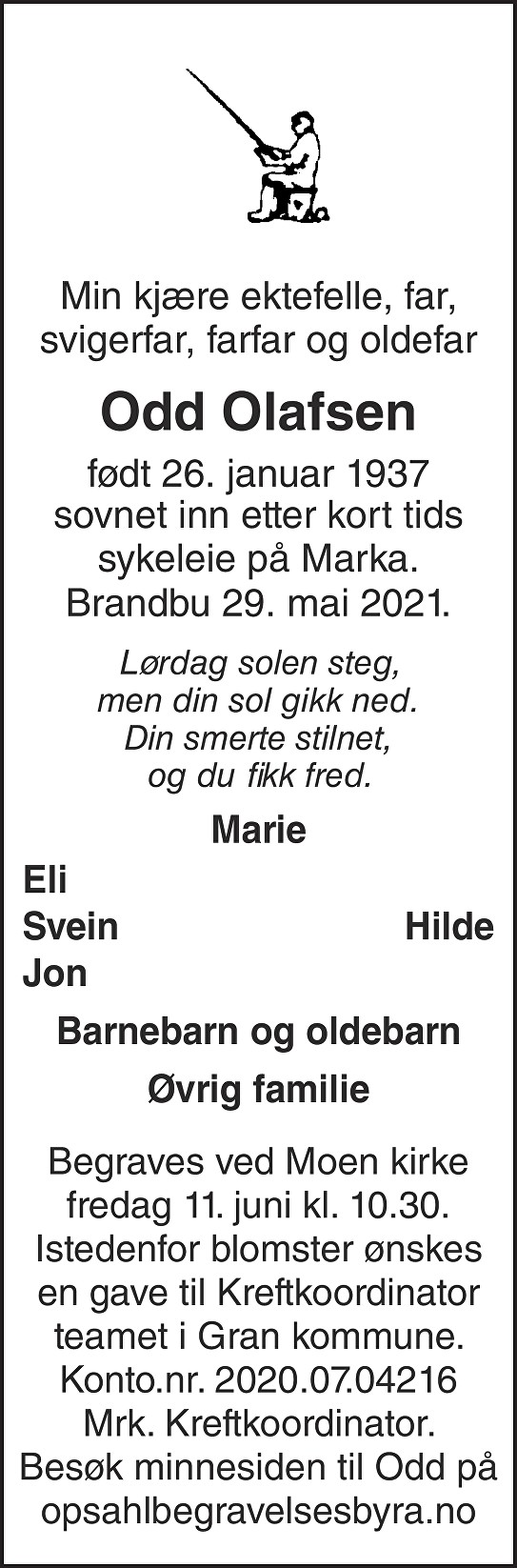 Odd Egil Olafsen Dødsannonse