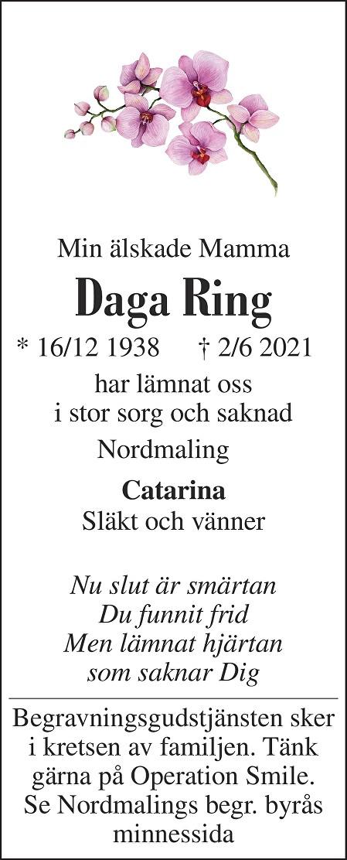 Daga Ring Death notice