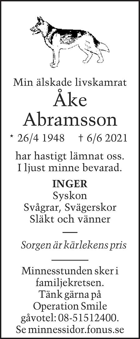 Åke Abramsson Death notice