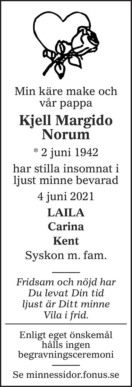Kjell Margido Norum Death notice