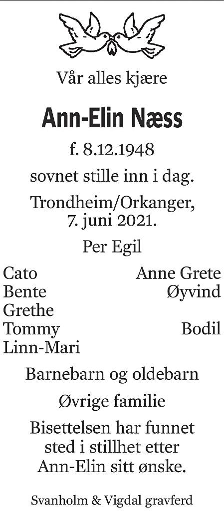 Ann Elin Næss Dødsannonse