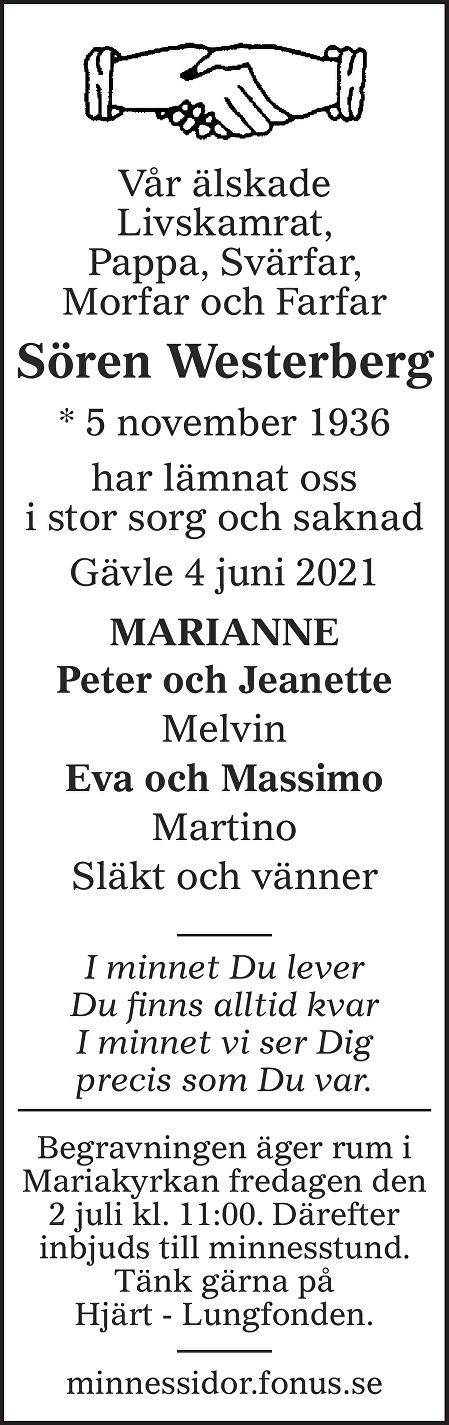 Sören Westerberg Death notice