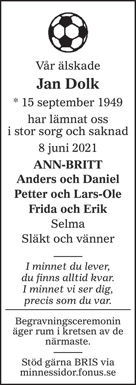 Jan Dolk Death notice