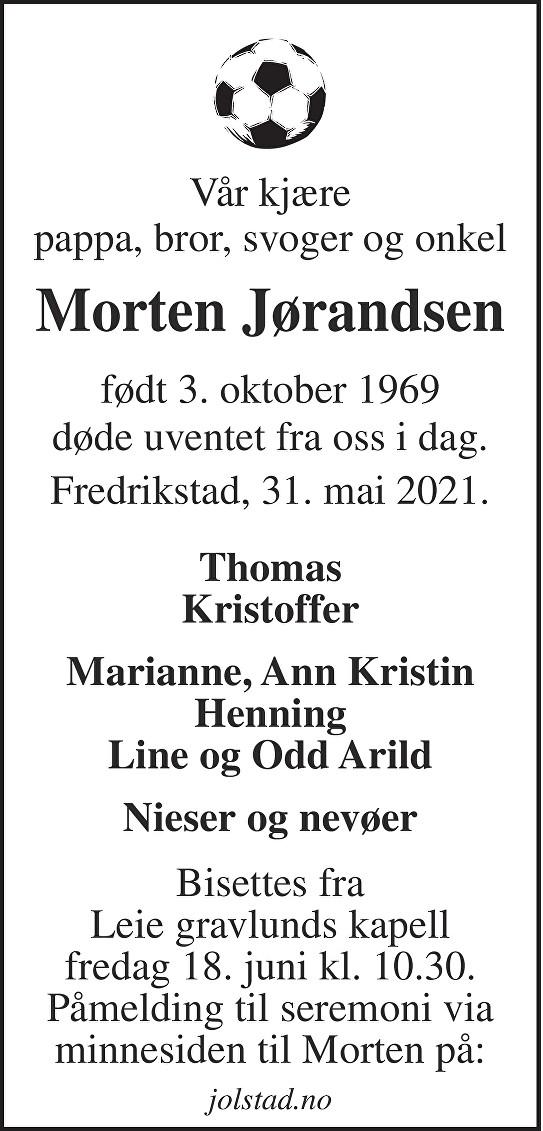 Morten Jørandsen Dødsannonse