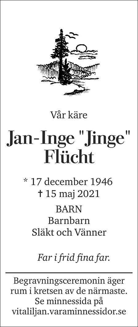 Jan-Inge Flücht Death notice