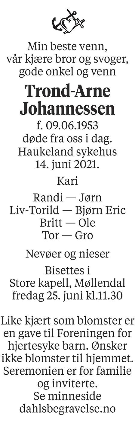 Trond Arne Johannessen Dødsannonse