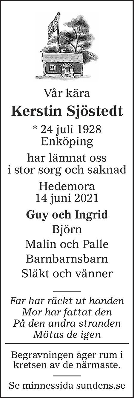 Kerstin Sjöstedt Death notice