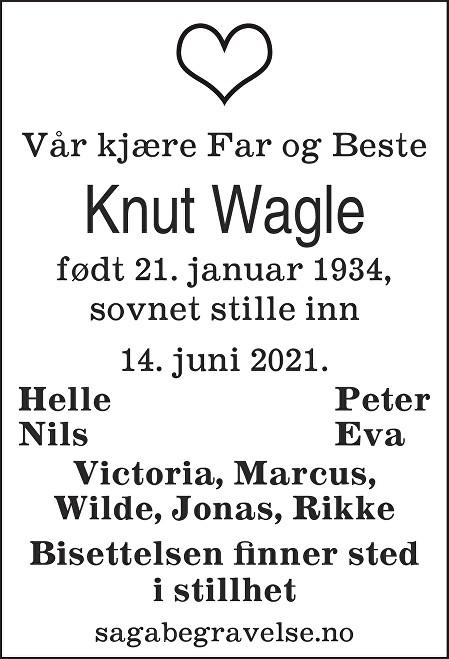 Knut Wagle Dødsannonse