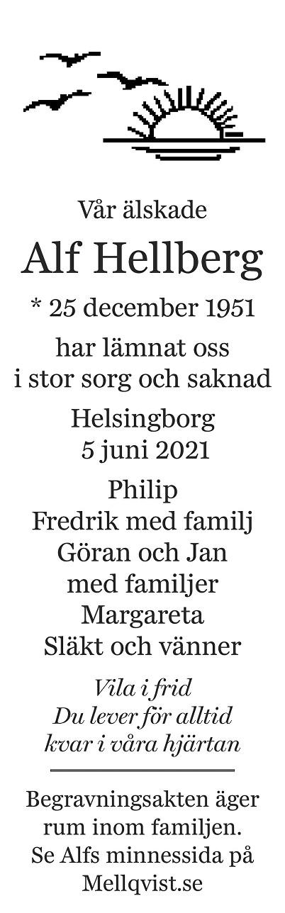Alf Hellberg Death notice