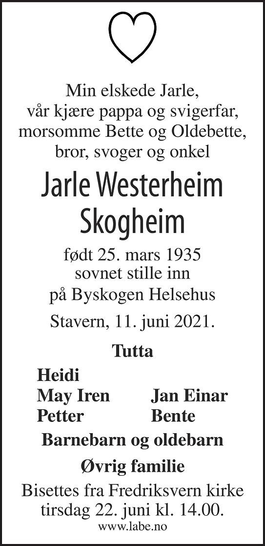 Jarle Skogheim Dødsannonse
