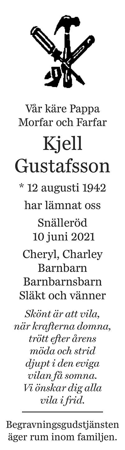 Kjell Gustafsson Death notice