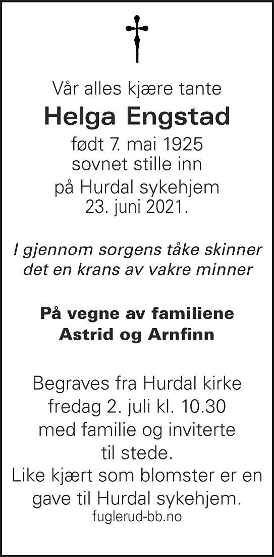 Helga Othilie Engstad Dødsannonse