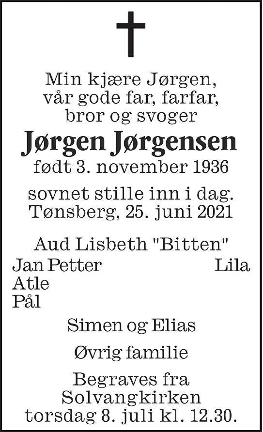 Jørgen Jørgensen Dødsannonse