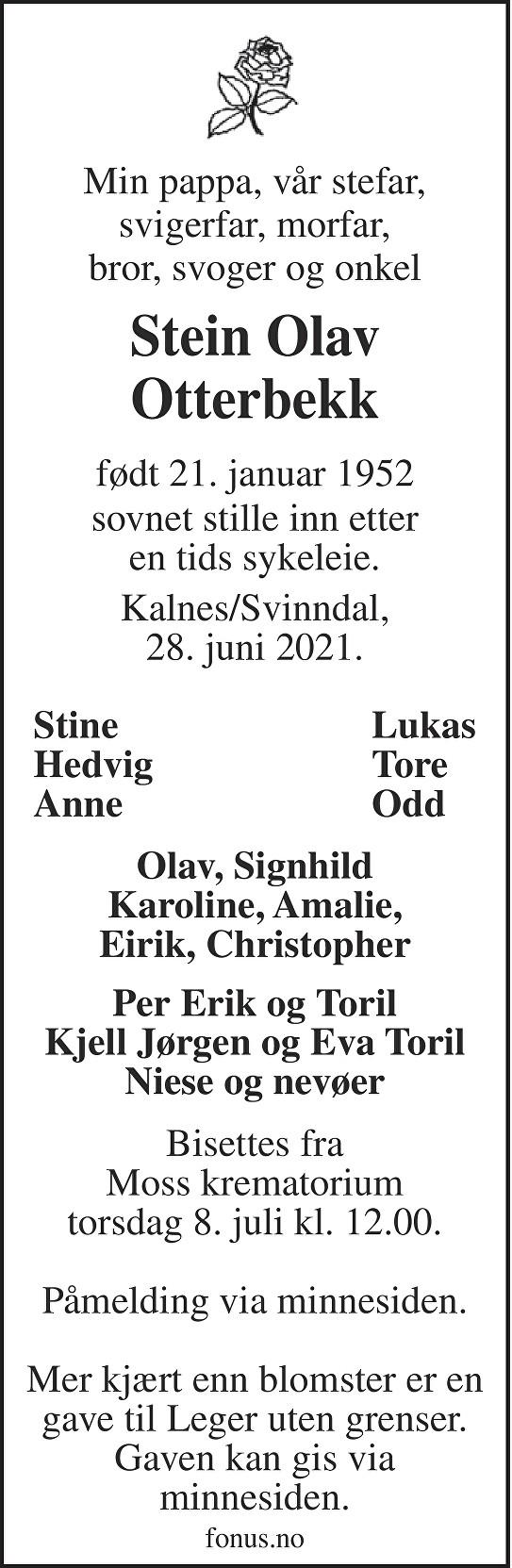 Stein Olav Otterbekk Dødsannonse
