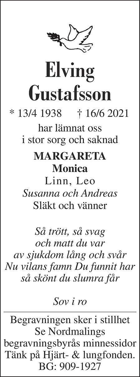 Elving Gustafsson Death notice