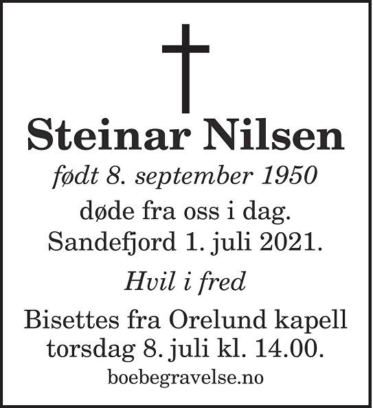 Steinar Nilsen Dødsannonse