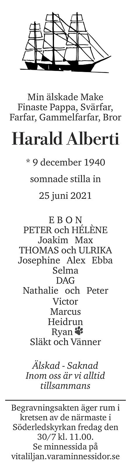Harald Alberti Death notice