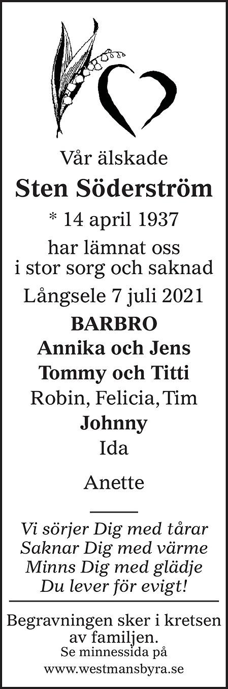 Sten Söderström Death notice