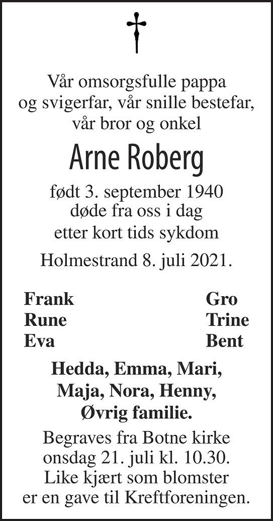 Arne Olav Roberg Dødsannonse