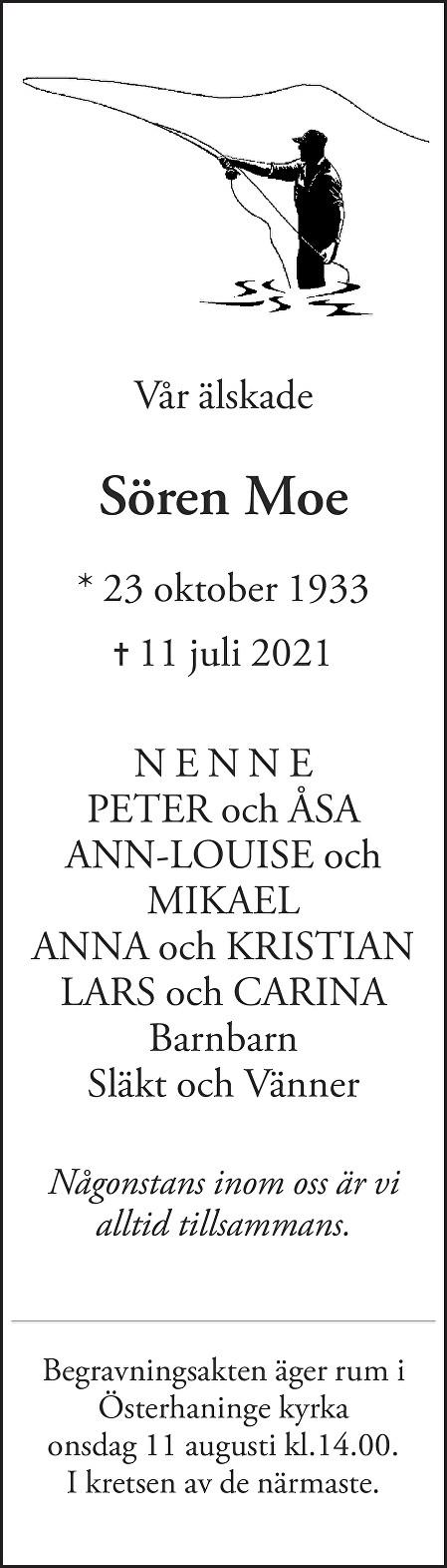 Sören Moe Death notice