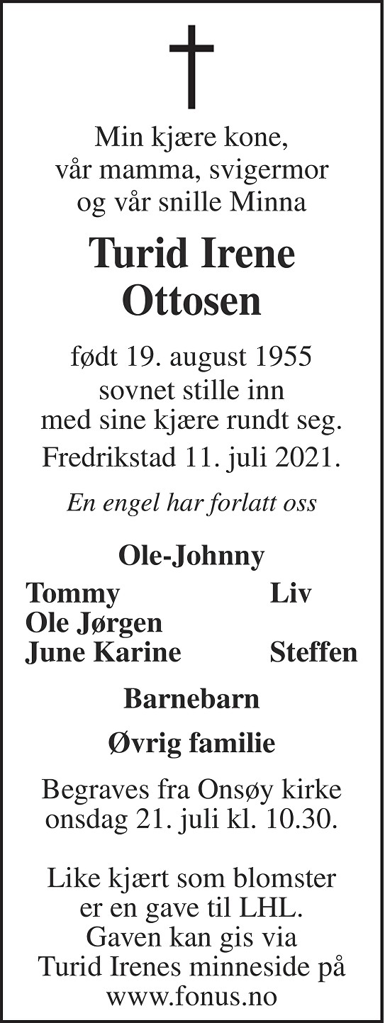 Turid Irene Ottosen Dødsannonse