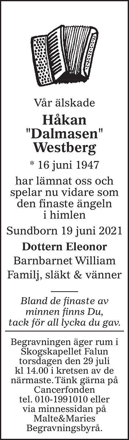 Håkan Westberg Death notice