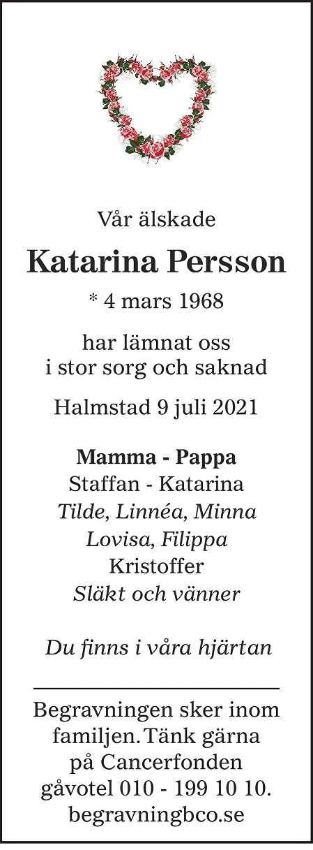 Katarina Persson Death notice