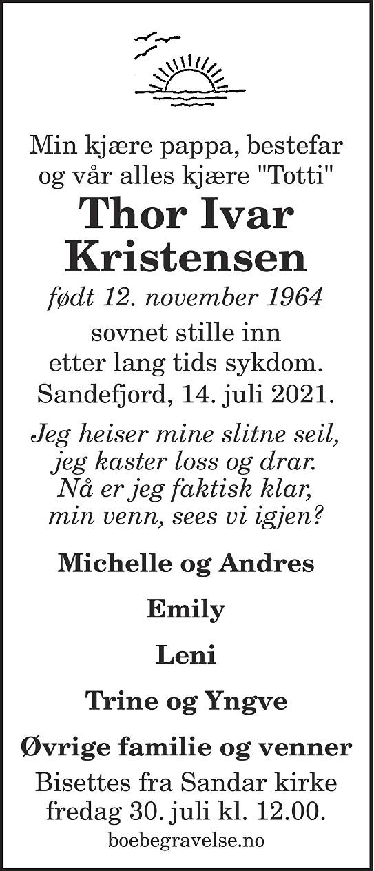 Thor Ivar Kristensen Dødsannonse