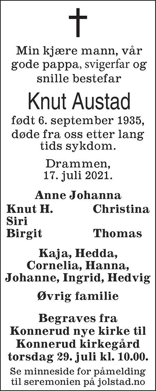 Knut Austad Dødsannonse