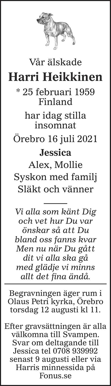 Harri Heikkinen Death notice