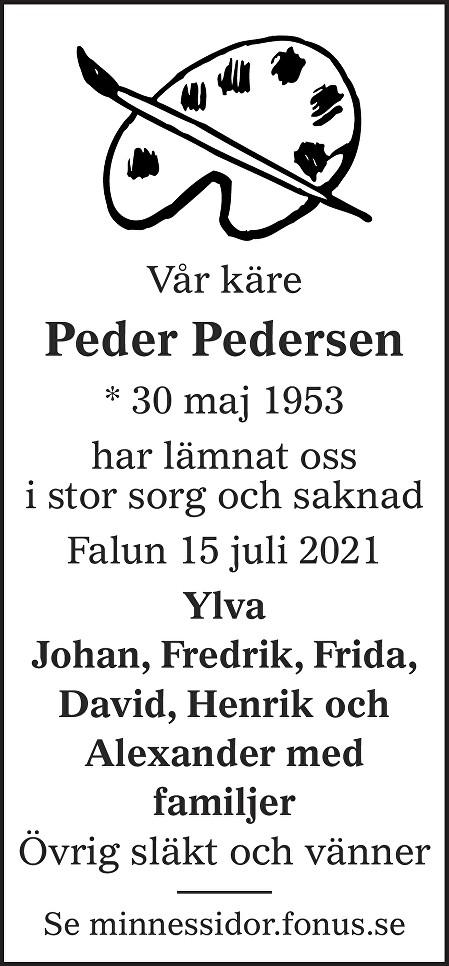 Peder Pedersen Death notice