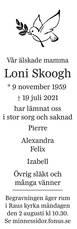 Loni Skog Death notice