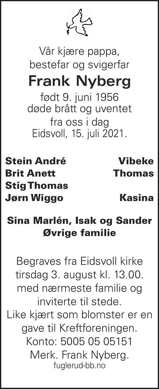 Frank Nyberg Dødsannonse