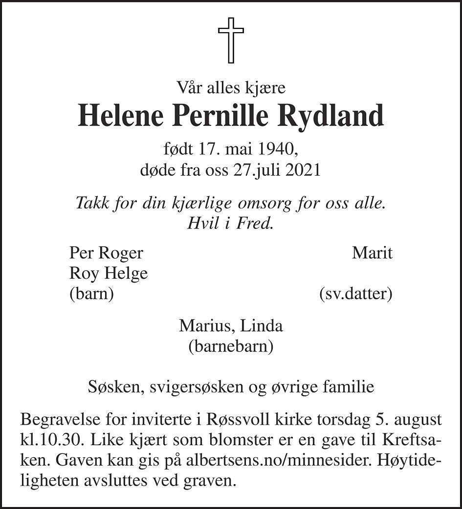 Helene Pernille Rydland Dødsannonse
