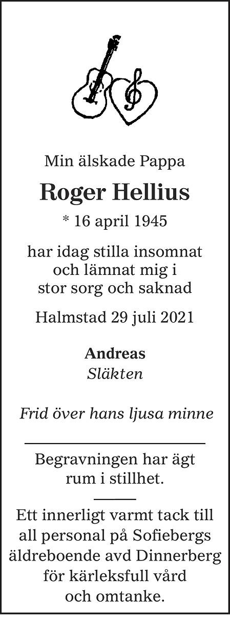Roger Hellius Death notice