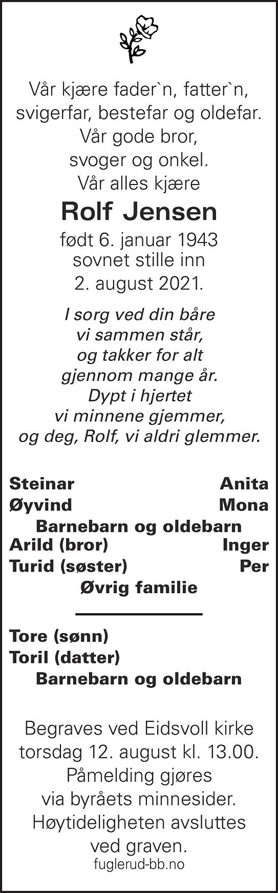 Rolf Jensen Dødsannonse
