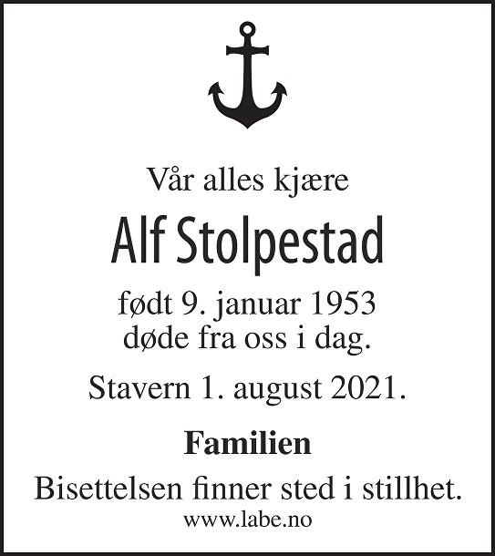 Alf Erling Stolpestad Dødsannonse