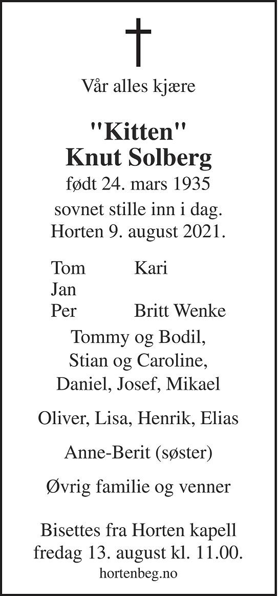 Knut Solberg Dødsannonse