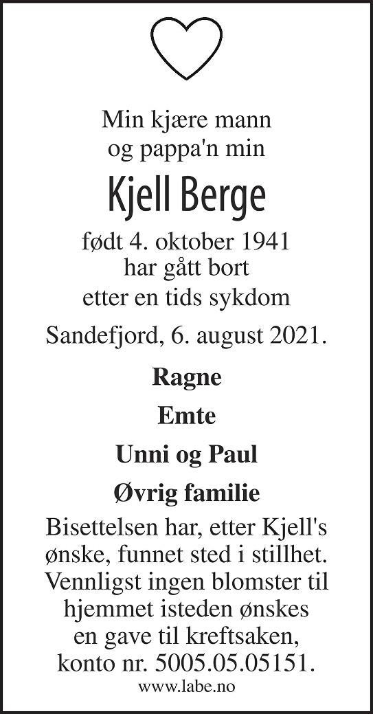 Kjell Berge Dødsannonse