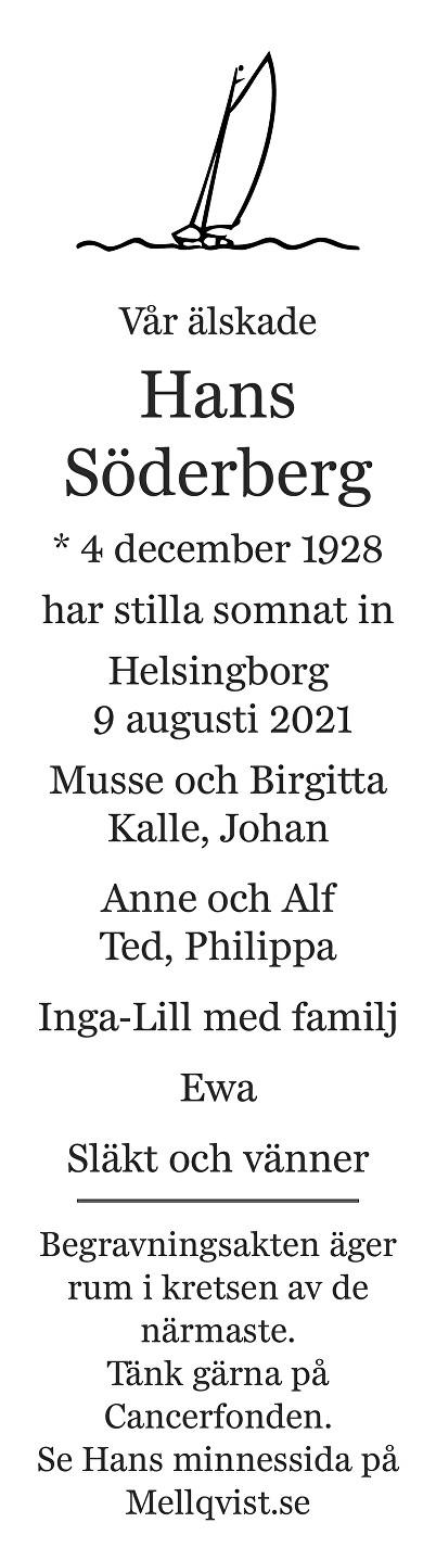 Hans Söderberg Death notice