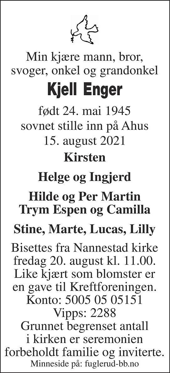 Kjell Enger Dødsannonse