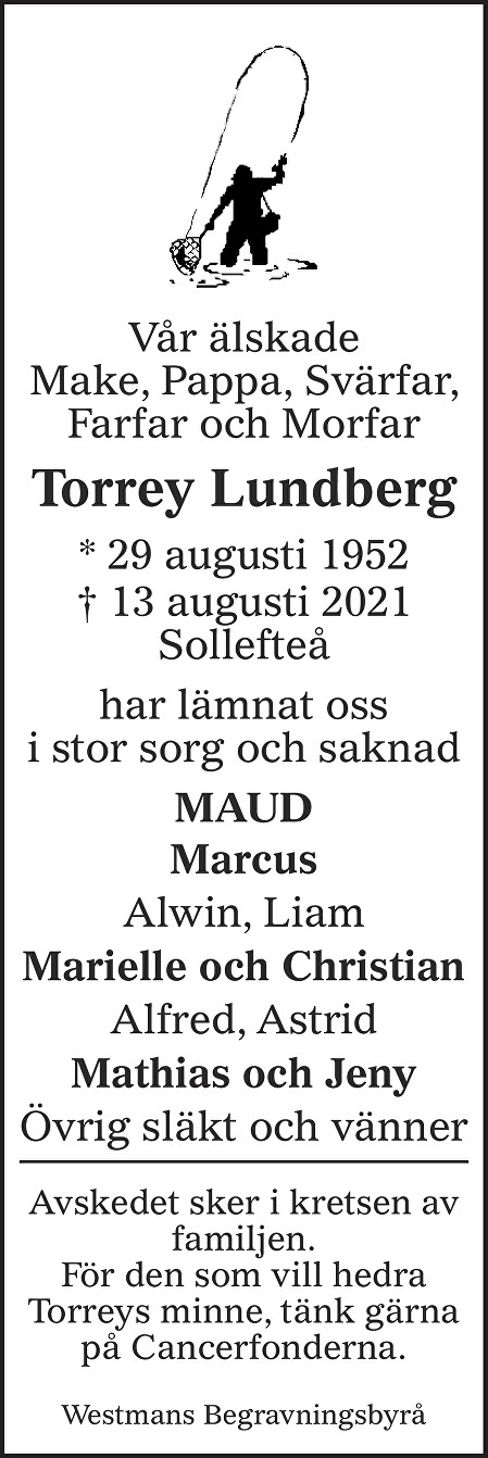 Torrey Lundberg Death notice