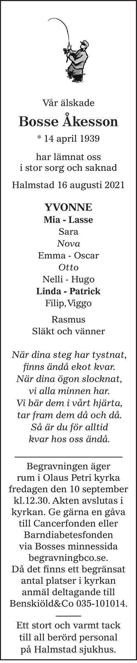 Bosse Åkesson Death notice