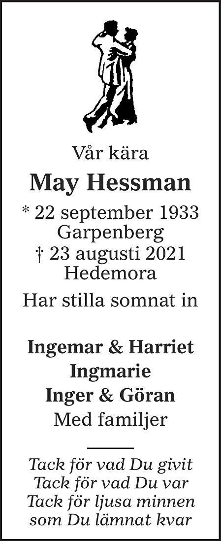 May Hessman Death notice