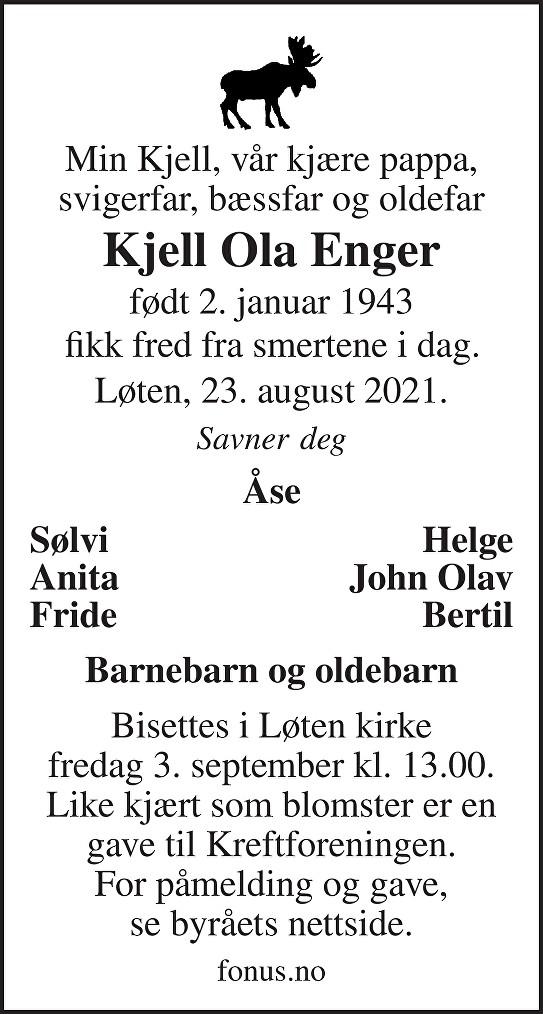 Kjell Ola Enger Dødsannonse