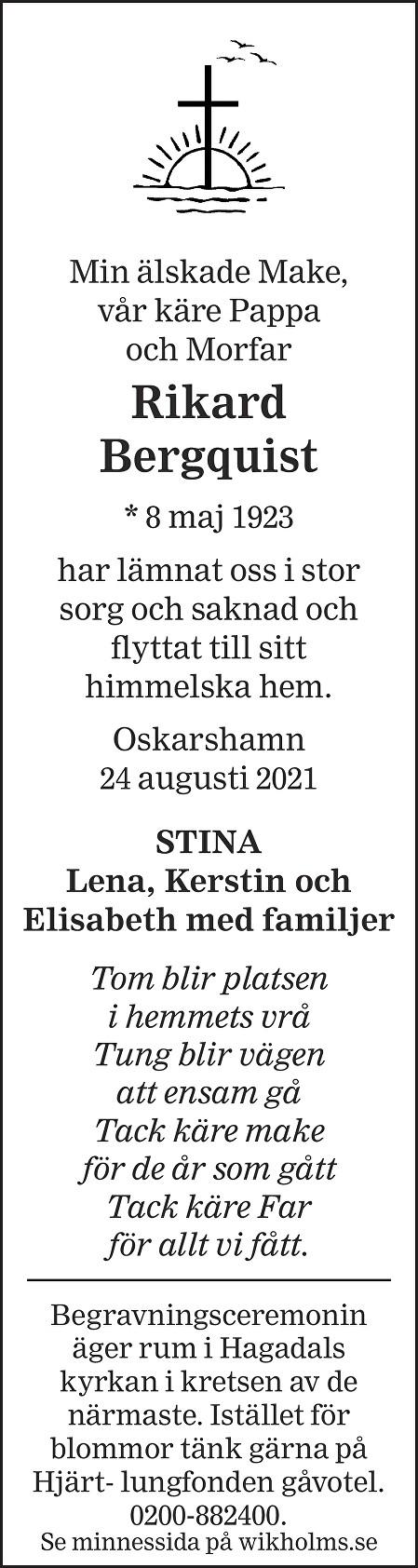 Rikard Bergqvist Death notice