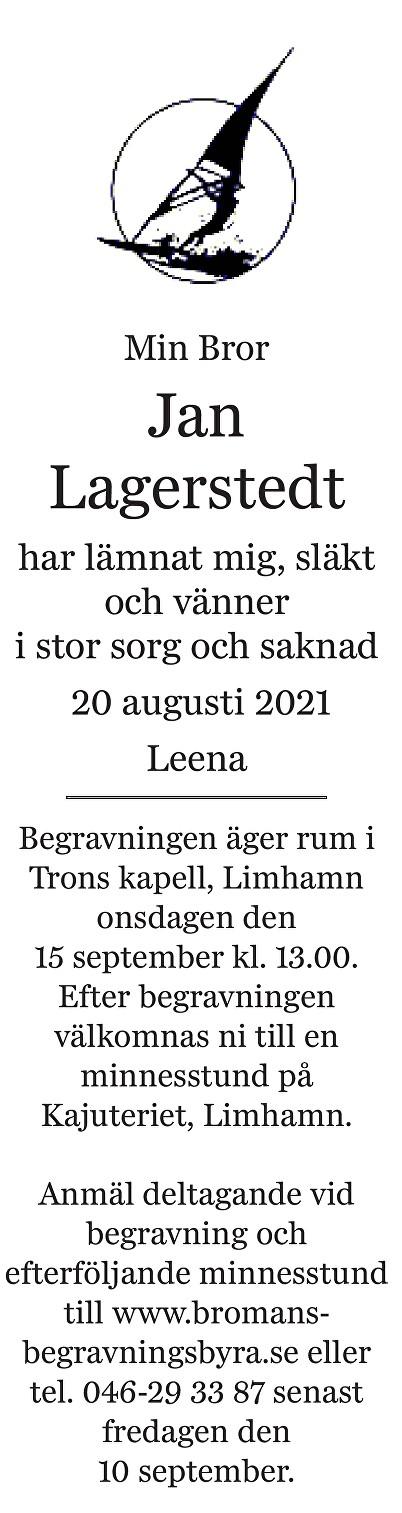 Jan Lagerstedt Death notice