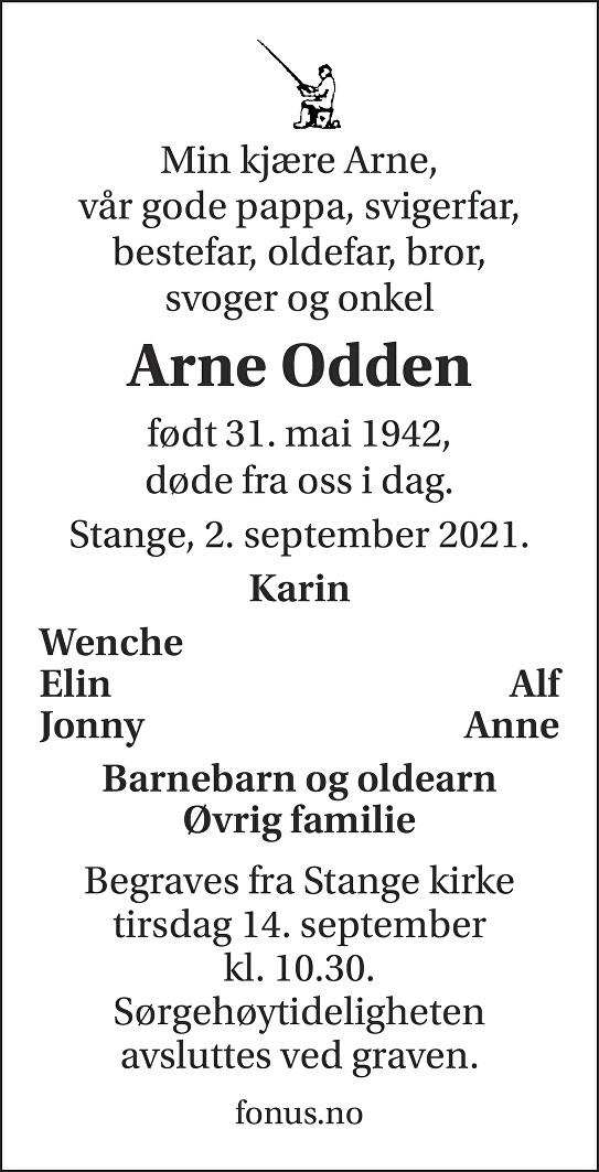 Arne Kristian Odden Dødsannonse