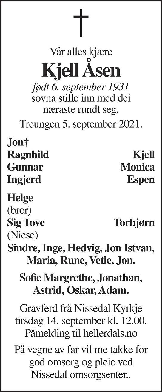 Kjell Åsen Dødsannonse